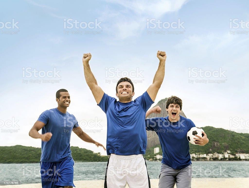 Goal Scoring Celebration stock photo