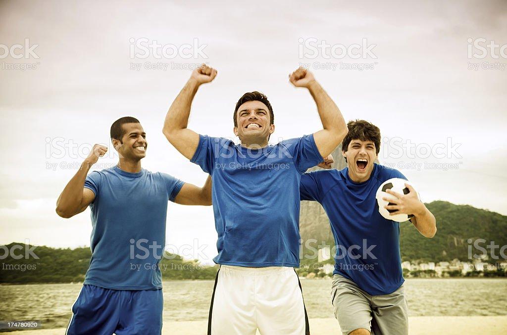 Goal Scoring Celebration royalty-free stock photo