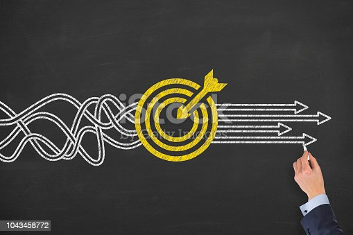 istock Goal Solution Concept on Blackboard 1043458772