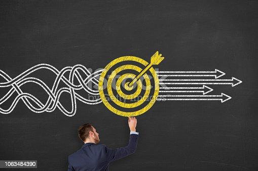 istock Goal Solution Concept on Blackboard 1063484390