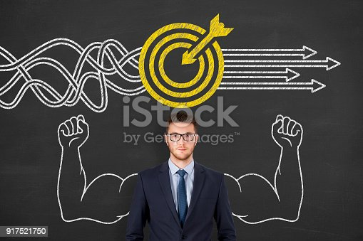istock Goal Solution Concept on Chalkboard 917521750