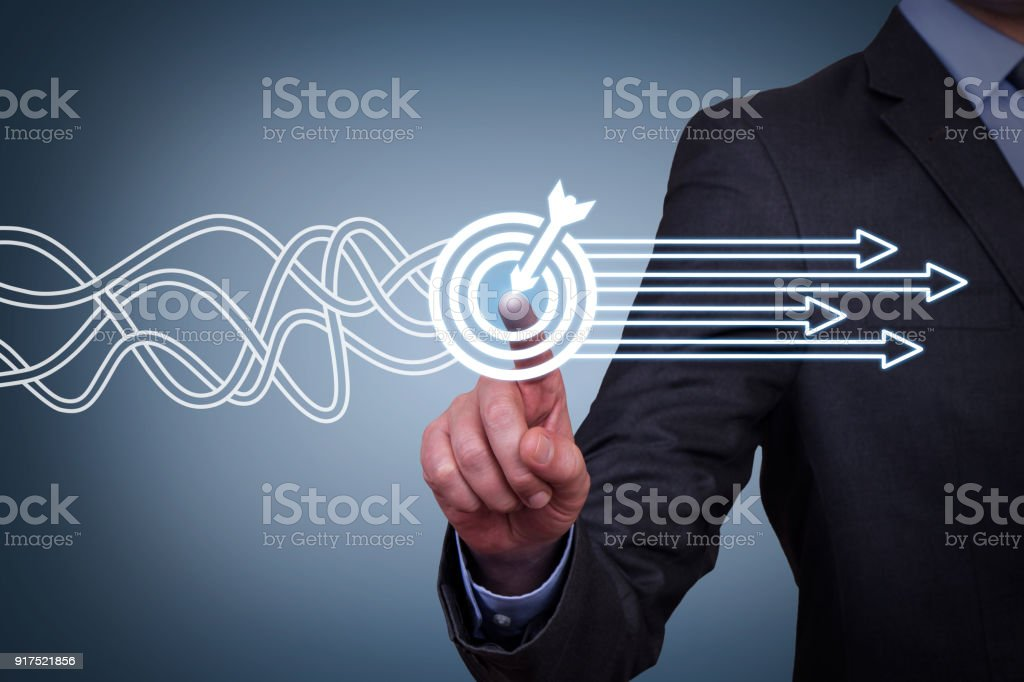 Goal Solution Concept on Screen stock photo