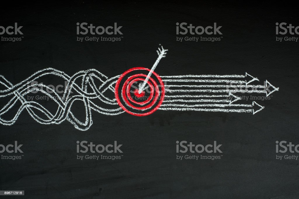Goal Solution Concept stock photo