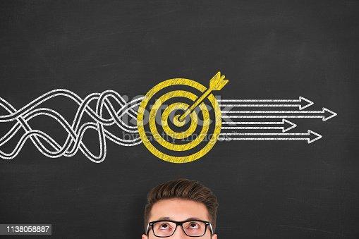 istock Goal Solution Concepts on Blackboard 1138058887