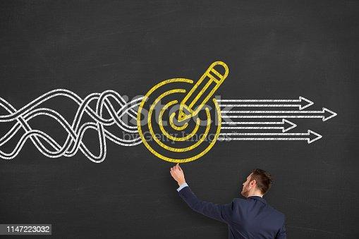 istock Goal Solution Concepts on Blackboard 1147223032