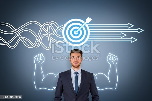 istock Goal Solution Concepts on Screen 1151850120