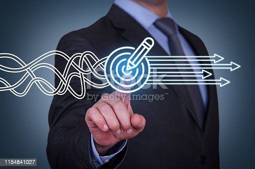 istock Goal Solution Concepts on Touch Screen 1154841027