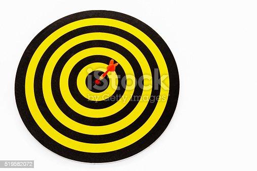 istock Goal target with arrow in bullseye 519582072