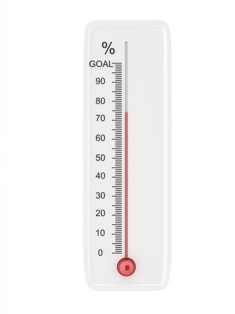 goal thermometer stock photo