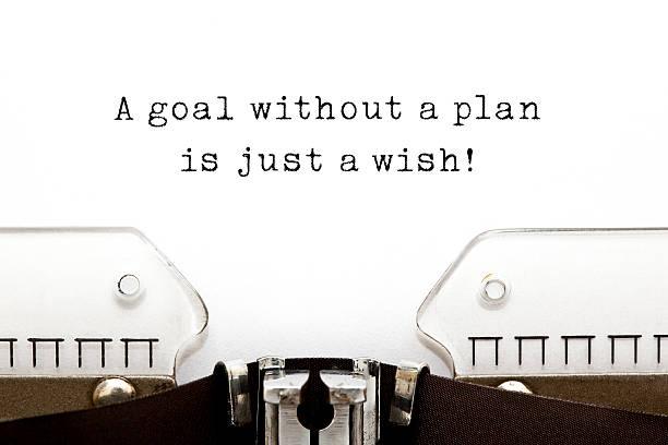 Objectif sans un plan est à un souhait - Photo