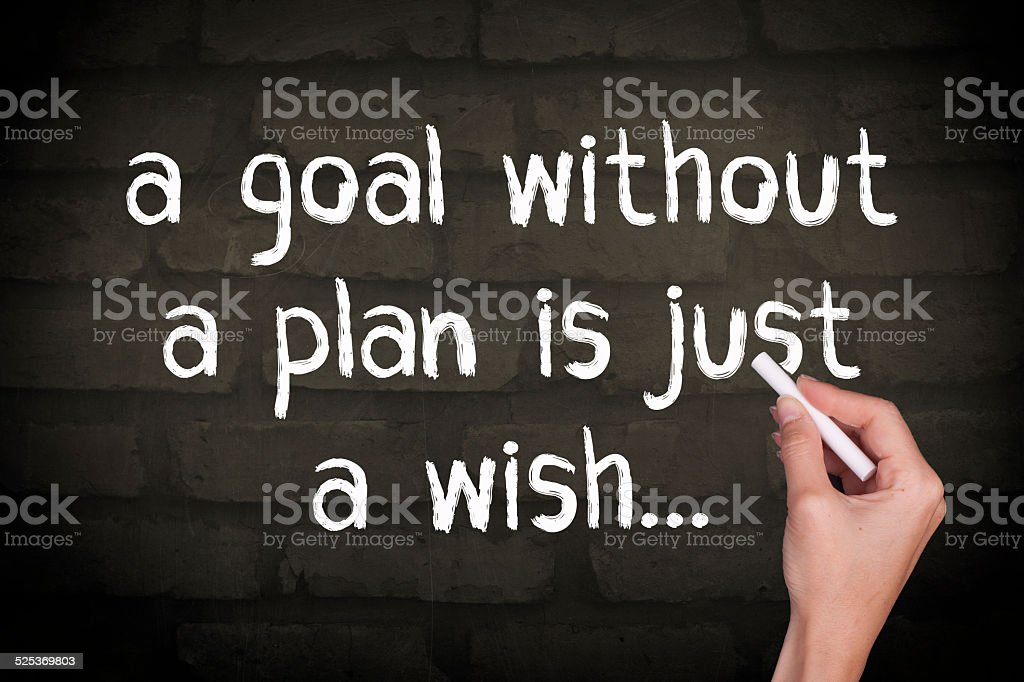 Goal Without A Plan is Just A Wish stock photo