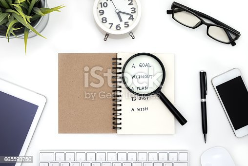 istock Goal without a plan is just a wish 665593750