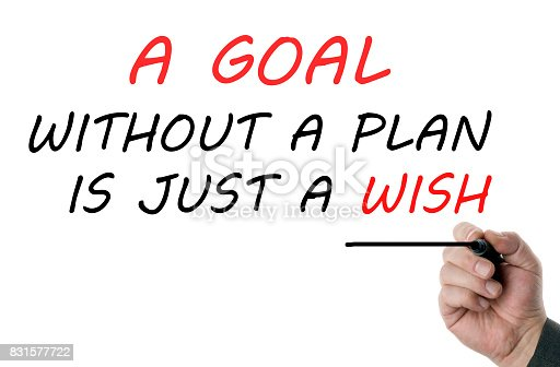 istock Goal without a plan is just a wish 831577722
