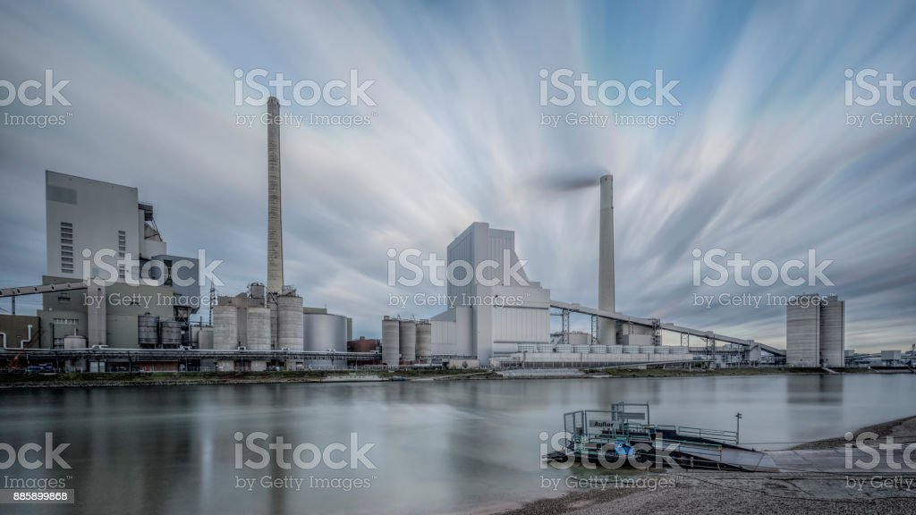 Goal-Fired Power Plant in Mannheim. stock photo