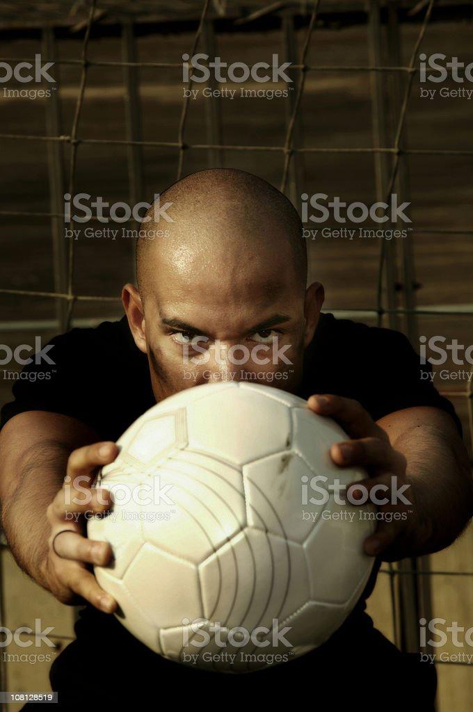 Goalkeeper of football royalty-free stock photo