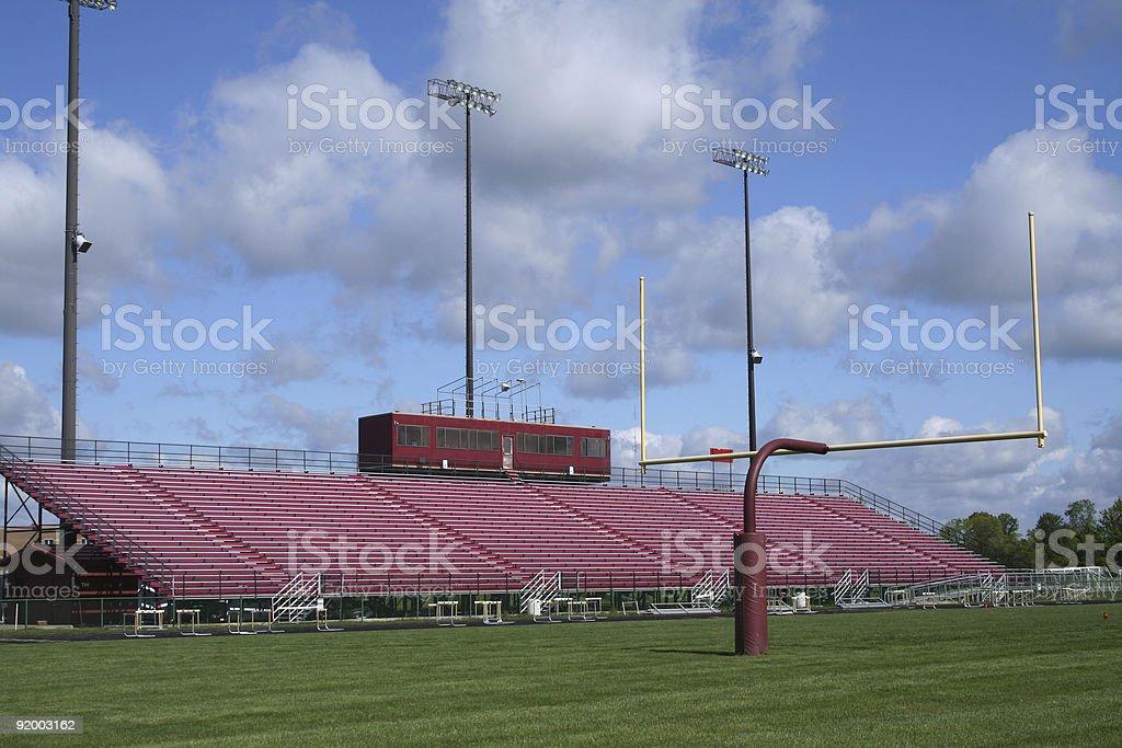 Goalpost and stadiuim royalty-free stock photo