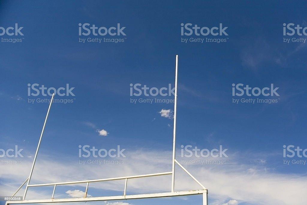 goalpost royalty-free stock photo