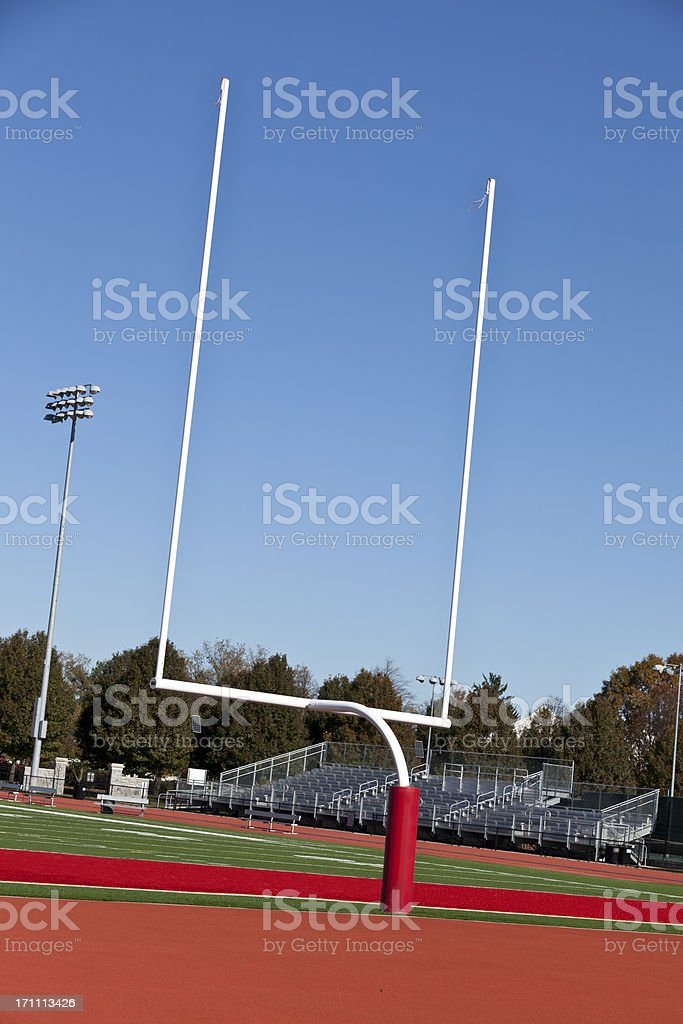 Goalposts royalty-free stock photo