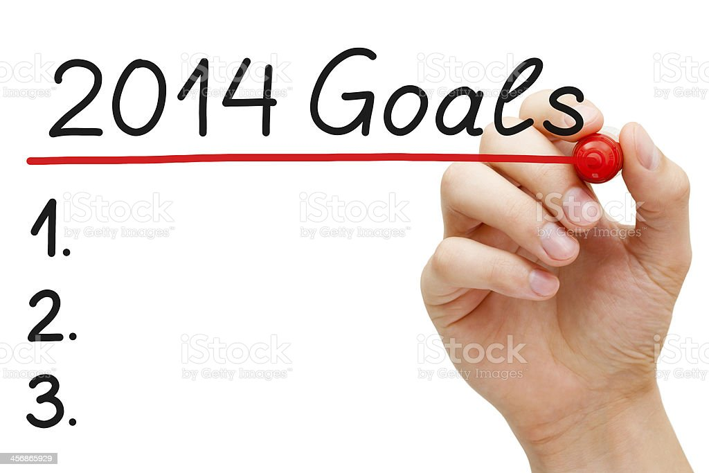 Goals 2014 royalty-free stock photo