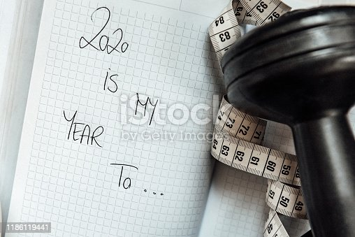 1070617536 istock photo 2020 Goals and New Year's Resolutions 1186119441