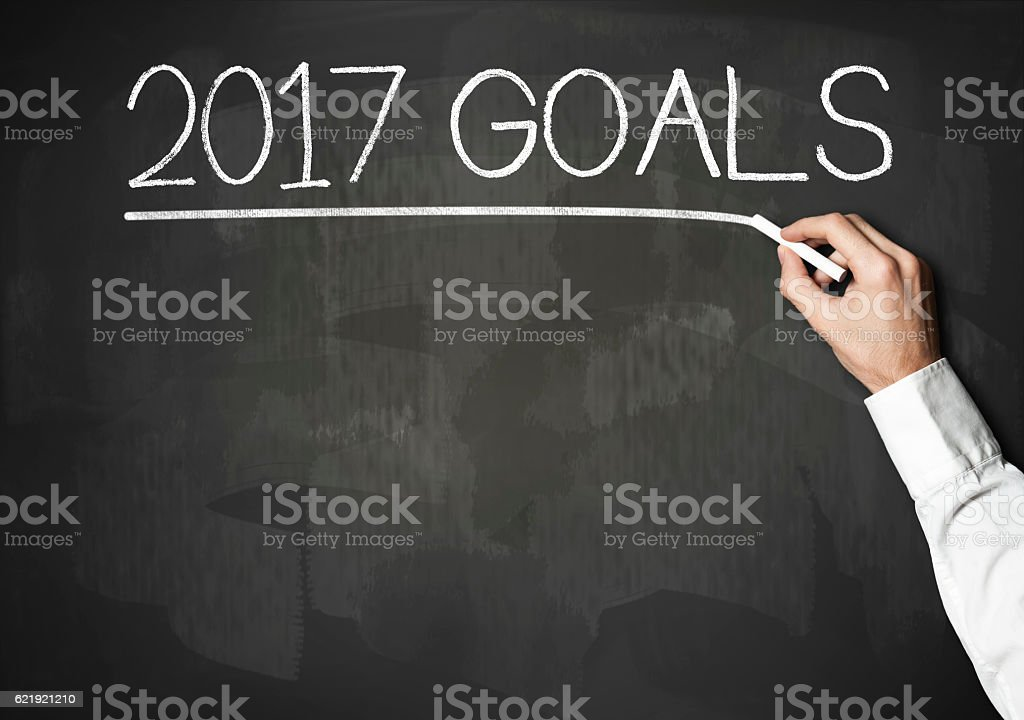 2017 Goals / Blackboard concept (Click for more) stock photo