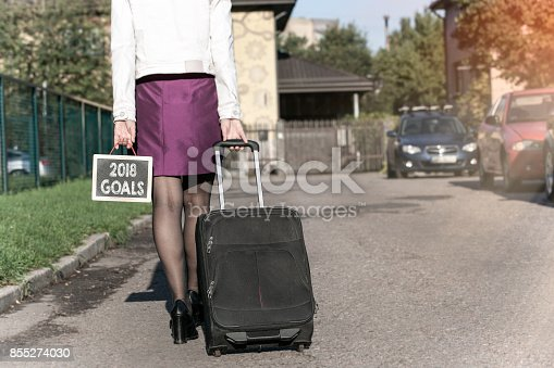 888342518 istock photo 2018 goals concept. Business career and success background 855274030