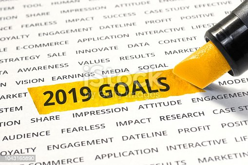1186985932 istock photo 2019 goals concepts with highlighter,business ideas 1043165890