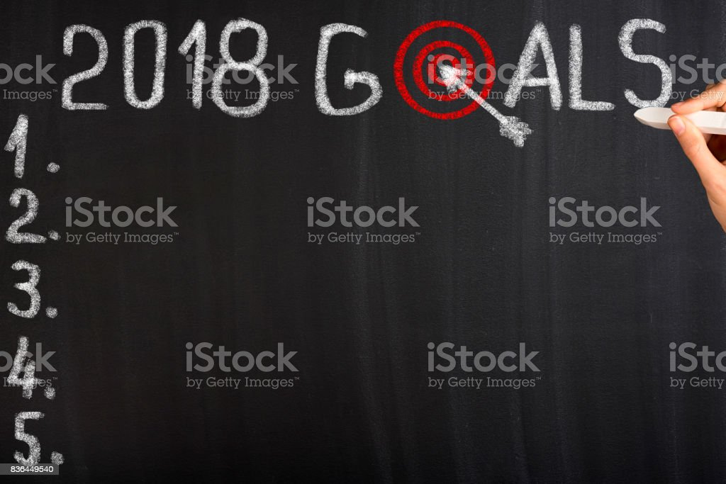 Goals for 2018 stock photo