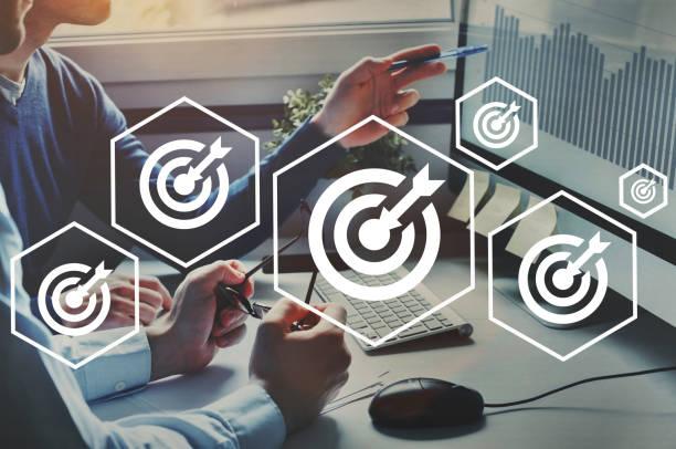 Ziele im Unternehmen, Ziel oder Ziel für Unternehmen, Unternehmensstrategie – Foto