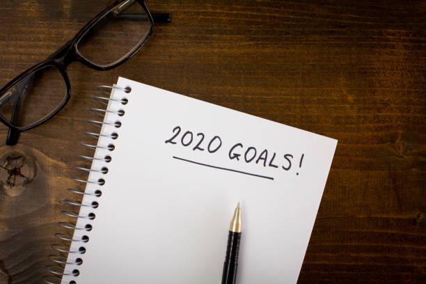 2020 Goals stock photo