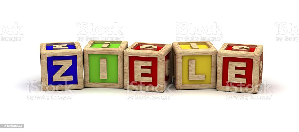 Ziele Play Cubes stock photo