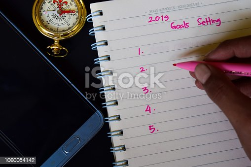 888342518istockphoto 2019 Goals setting text in someone hand 1060054142