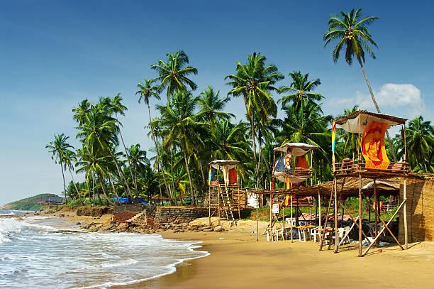 Goa's idyllic beach Goa's idyllic beach, India goa stock pictures, royalty-free photos & images