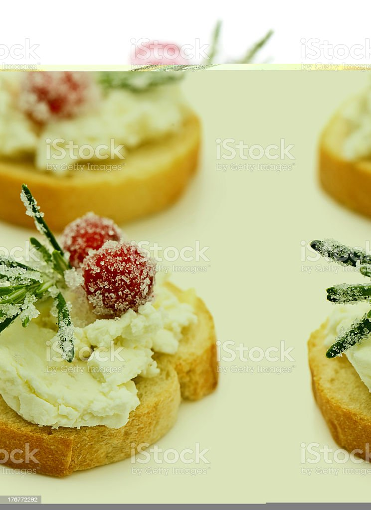 Goat Cheese Appetzer royalty-free stock photo