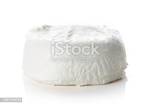 Goat cheese isolated on white background