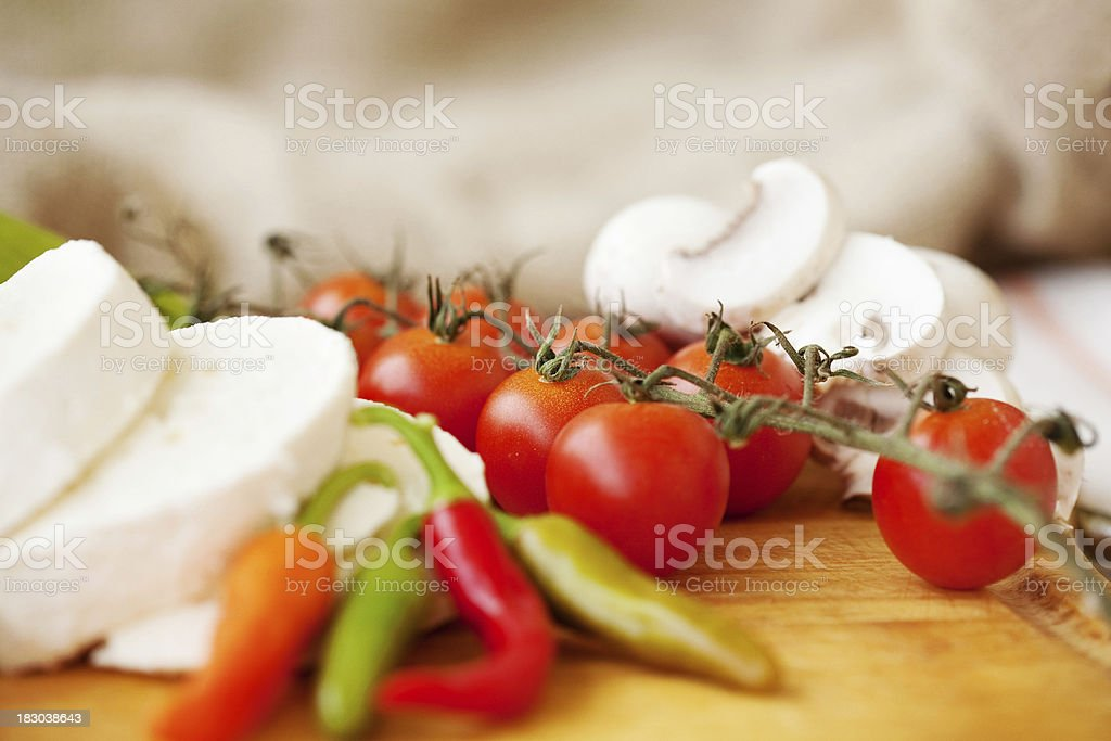 Goat Cheese with  vegetables royalty-free stock photo