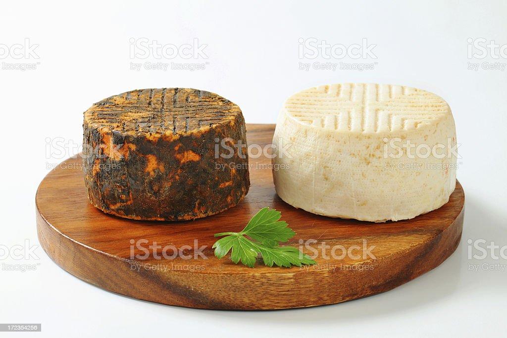 Cabra quesos foto de stock libre de derechos