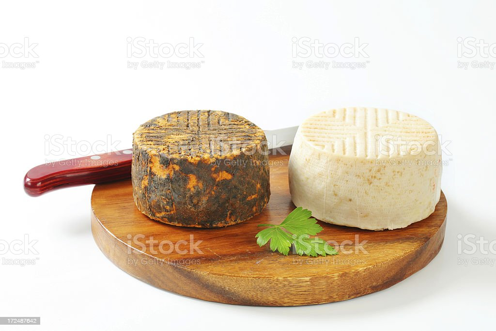 goat cheeses royalty-free stock photo