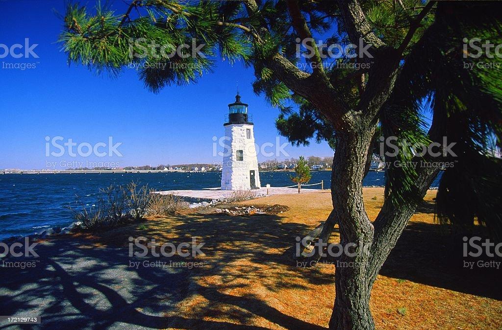 Goat Island Lighthouse royalty-free stock photo