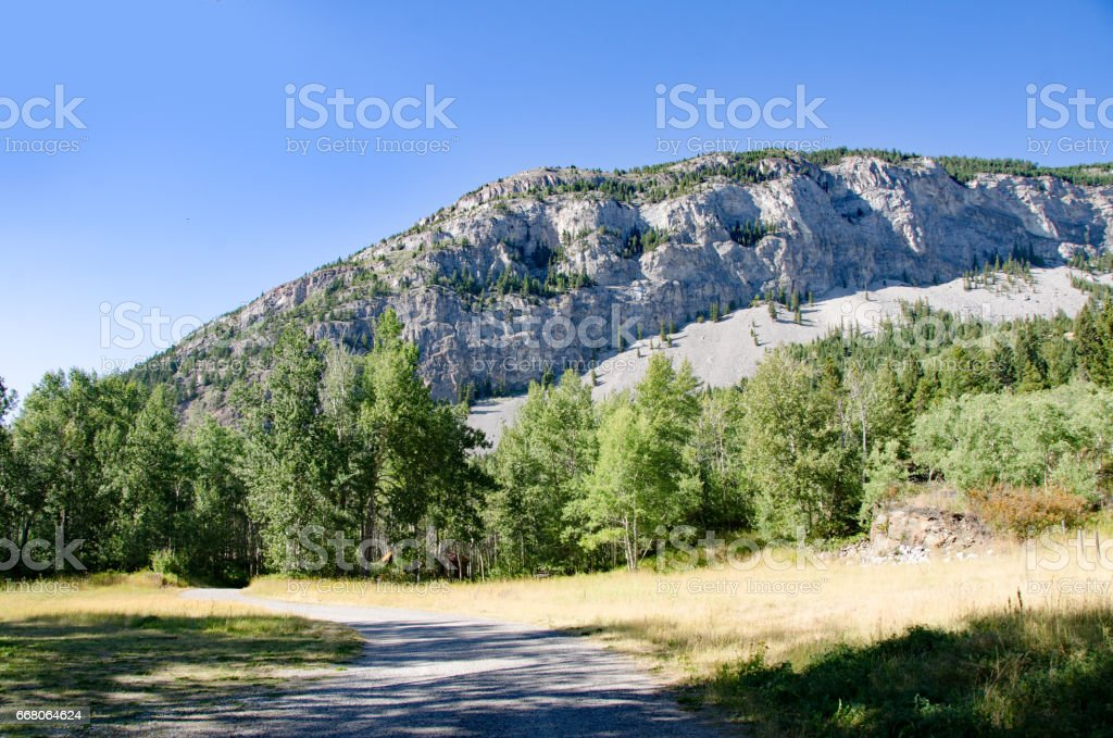 Goat Mountain in Crowsnest Pass stock photo