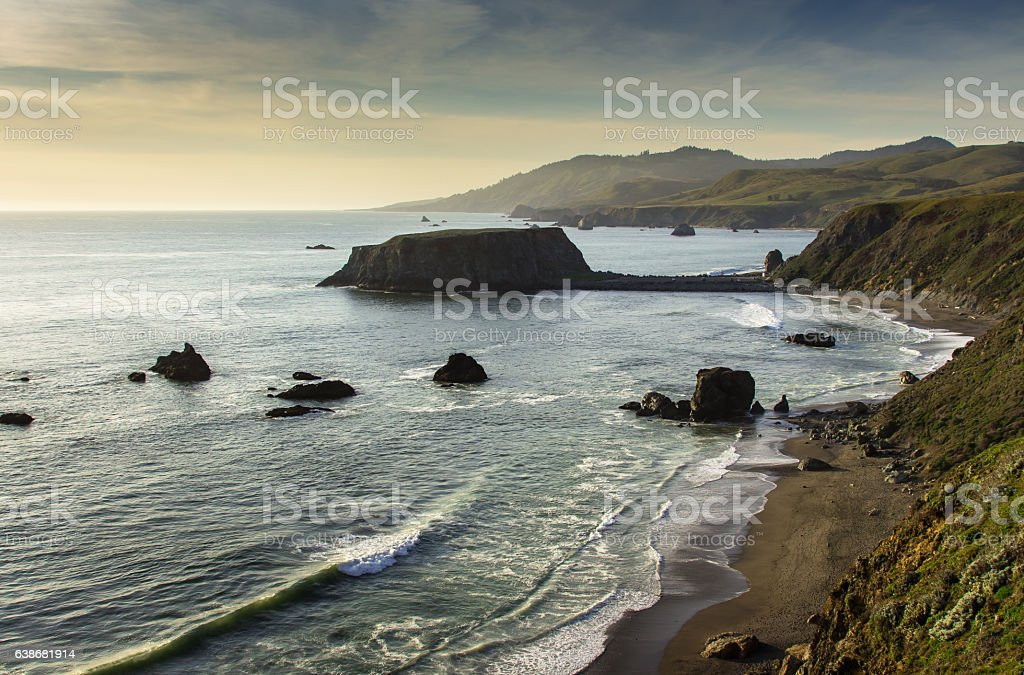 Goat Rock, Blind Beach stock photo