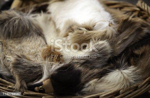 istock Goat skins fur 1142788562