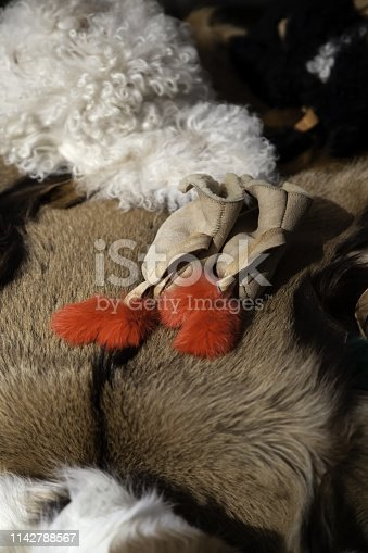 istock Goat skins fur 1142788567