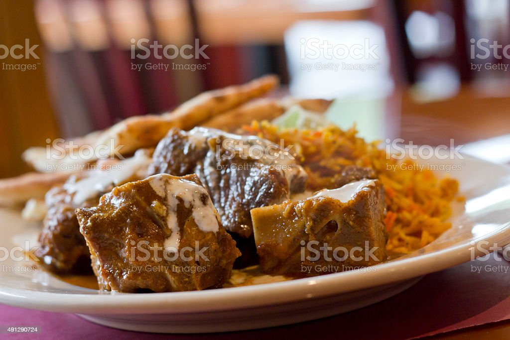 Goat Vindaloo stock photo