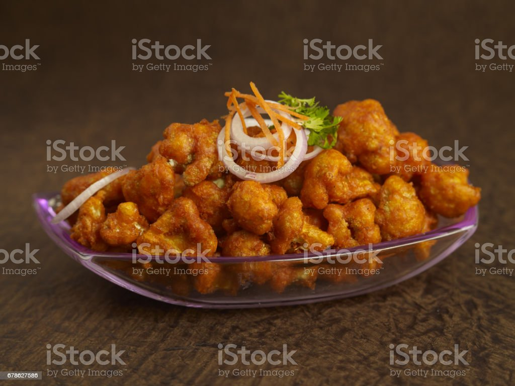 Gobi 65(cauliflower fry) stock photo