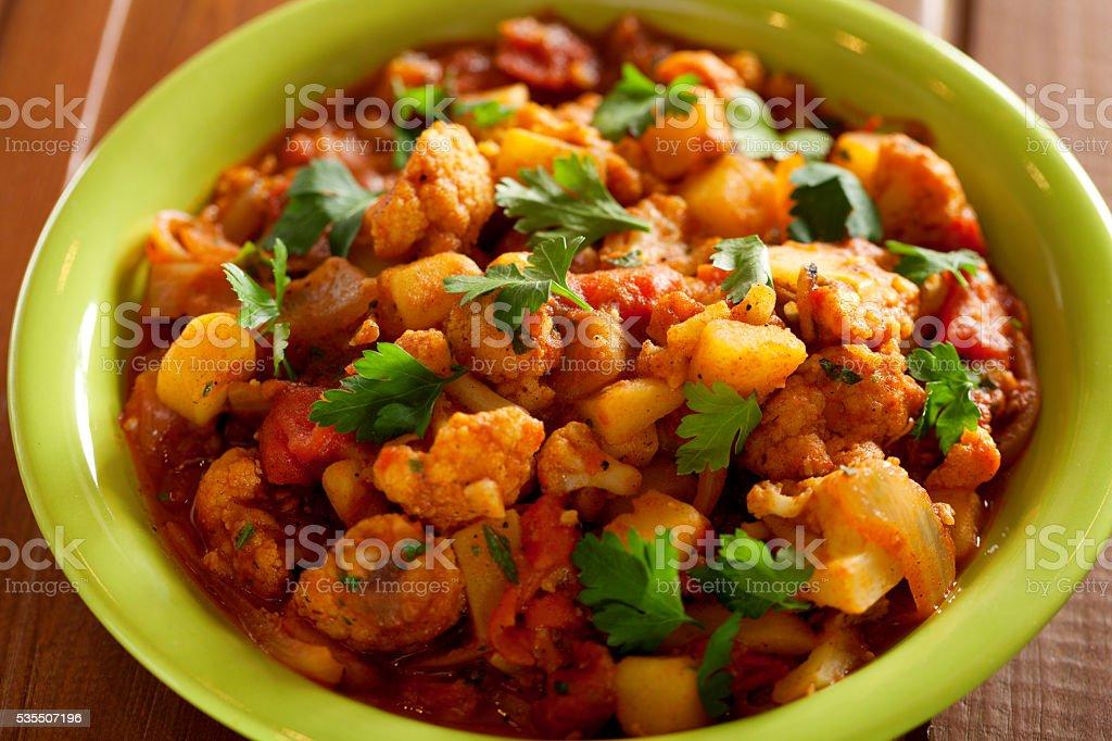 Gobi Aloo curry indien plat - Photo