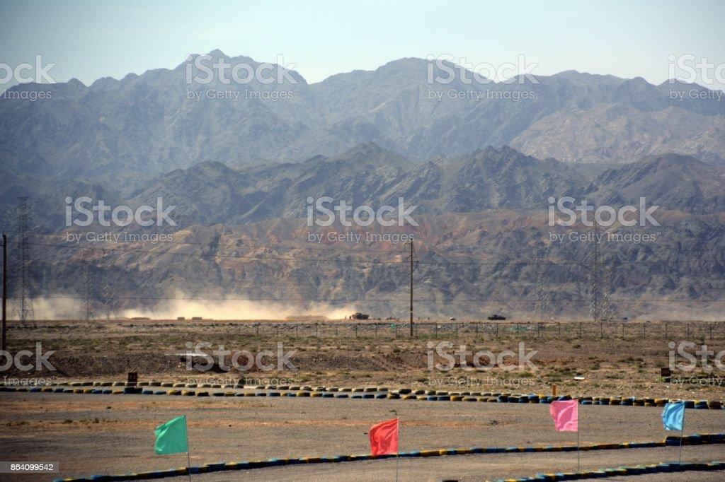 Gobi desert at Jiayuguan, Gansu, China royalty-free stock photo