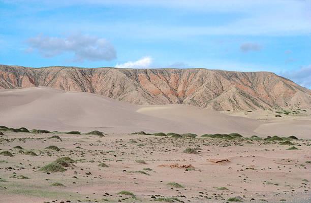 Gobi Desert Sand Mountain, Qinghai Province, China stock photo
