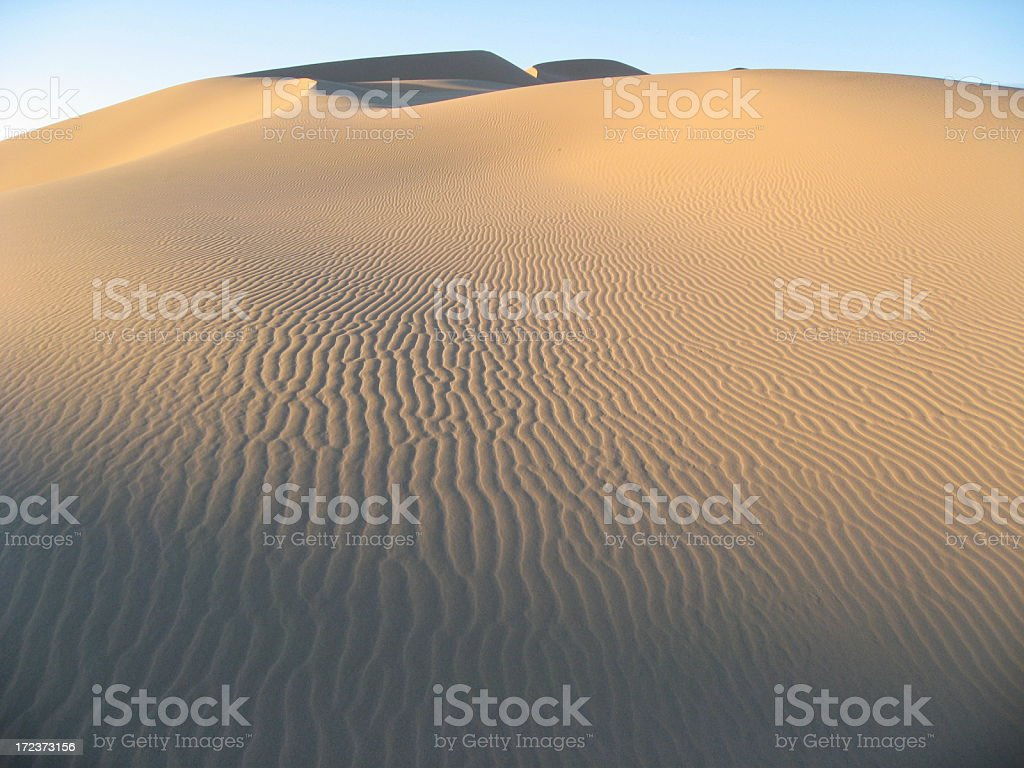 Gobi dunes at dawn royalty-free stock photo