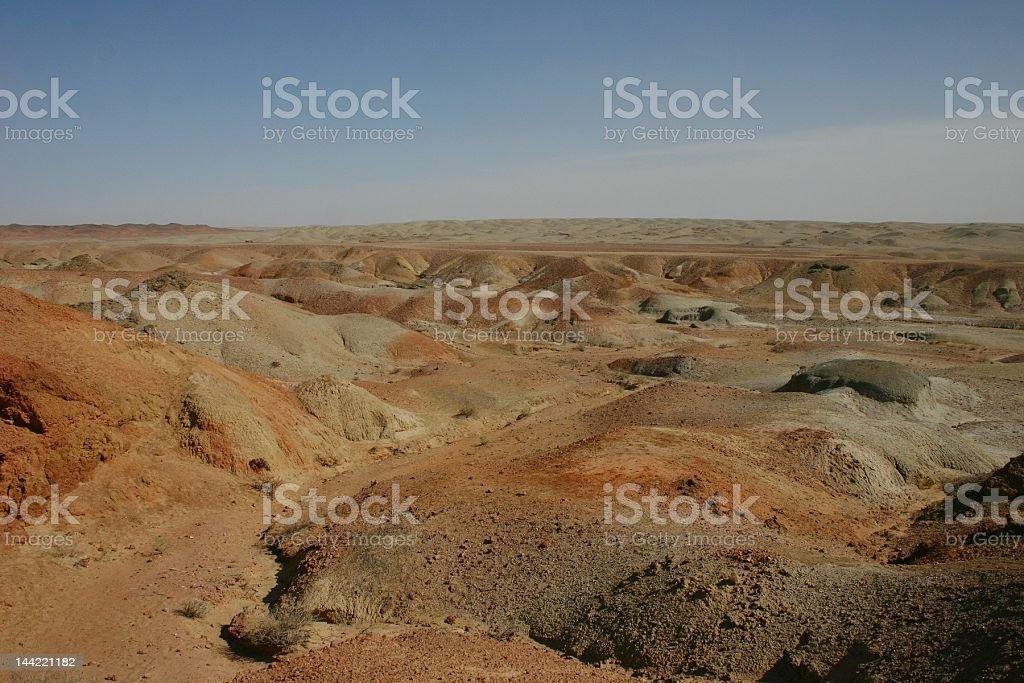 Gobi in Southeast Mongolia stock photo